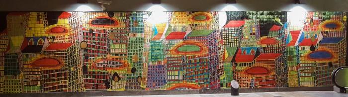Mosaic in Lisbon Metro